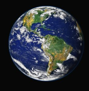 A picture of Earth.