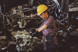 Female engineer at work.