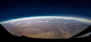 View of earth from space.